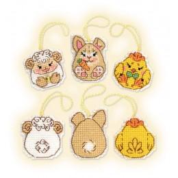 Пасхальный кролик и его друзья - РИОЛИС - набор вышивки крестом