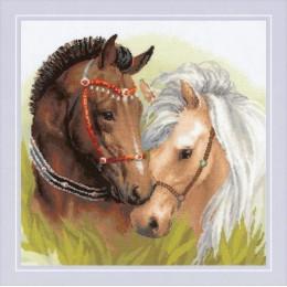 Пара лошадей - РИОЛИС - набор для вышивки крестом