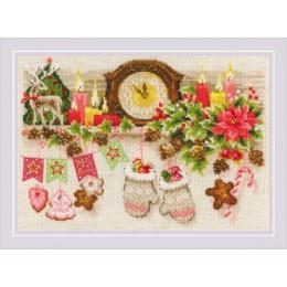 Набор для вышивки крестом - РИОЛИС - Рождественская полка