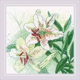Набор для вышивки крестом - РИОЛИС - 1915 Белые лилии