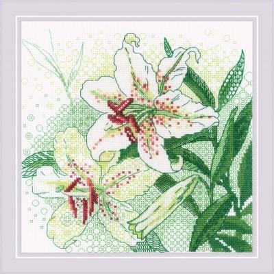 Набор для вышивки крестом - РИОЛИС - Белые лилии