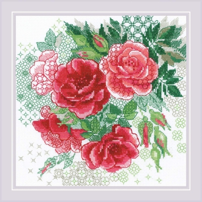 Набор для вышивки крестом - РИОЛИС - Красный шиповник