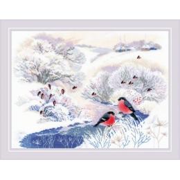 Набор для вышивки крестом - РИОЛИС - 1937 Зимняя речка