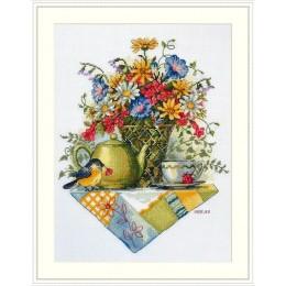 Набор для вышивки крестом - ТМ Мережка - К-198 Чай из полевых цветов