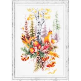 Набор для вышивки крестом Чудесная игла 200-018 Дух осеннего леса