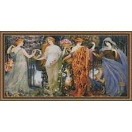 Времена года - Фантазия ТМ - набор вышивки крестом
