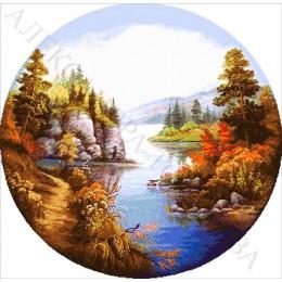 Тарелка с притокам - Токарева А. - авторский набор вышивки бисером