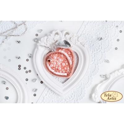 Набор для вышивки бисером - Тэла Артис - Хрустальный персик (брошь)