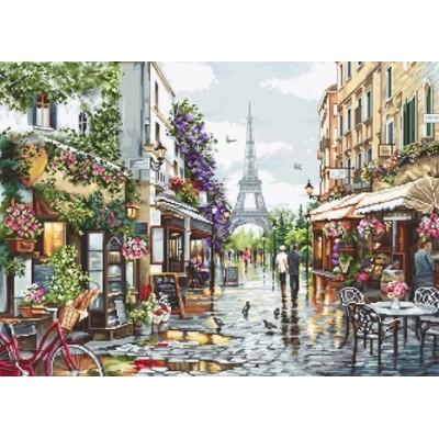 Цветущий Париж - Luca-S - набор вышивки крестом