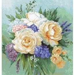 Цветочный букет - Luca-S - вышивка гобеленовым швом