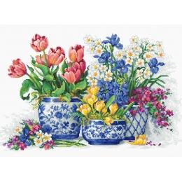 Набор для вышивки крестом - Luca-S - Весенние цветы B2386