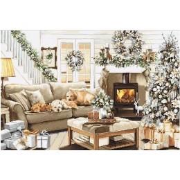 Набор для вышивки крестом - Luca-S - B2393 Мечтая о белом Рождестве