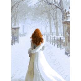 Авторский набор для вышивки бисером - Токарева А. - Снежная королева 28-3816-НС