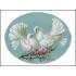 Вышивка крестом голуби