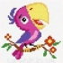 Вышивка крестом попугаи
