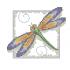 Вышивка крестом стрекоза
