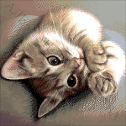 Крошка кот - Токарева А. - авторский набор для вышивки бисером