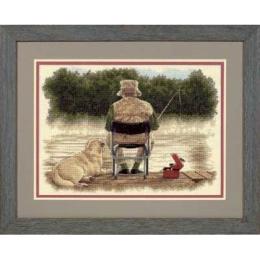 Товарищи на рыбалке / Fishing Buddies - Dimensions - набор для вышивки крестом