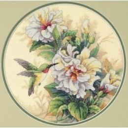 Набор для вышивки крестом - DIMENSIONS - 35156 Колибри и бутоны гибискуса / Hibiscus Duo