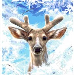 Молодой олень - Токарева А. - авторский набор вышивки бисером