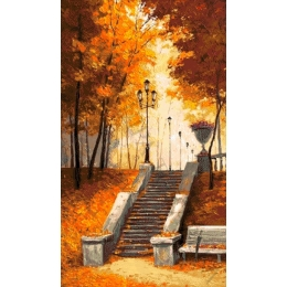 Авторский набор для вышивки бисером - Токарева А. - 39-3636-НО Осенний сквер