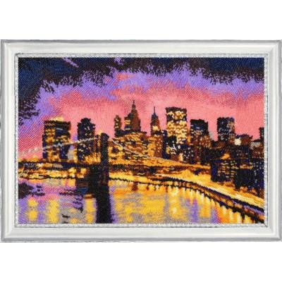 Ночной Нью-Йорк - Butterfly - набор вышивки бисером