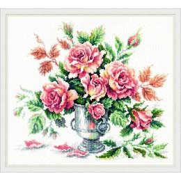 Розовая нежность - Чудесная игла - набор для вышивки крестом