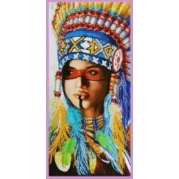 Набор для вышивки бисером - Картины бисером - Р-419 Индейская девушка