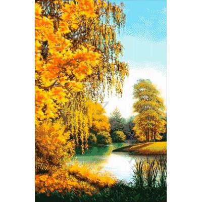 Осенним днем у реки - Токарева А. - авторский набор вышивки бисером
