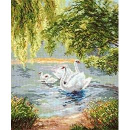Лебеди - Чудесная игла - набор для вышивки крестом