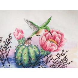 Колибри и кактус - Classic Design - набор для вышивки крестом