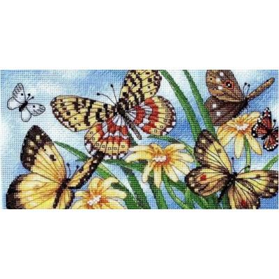 Летние бабочки - Classic Design - набор вышивки крестом