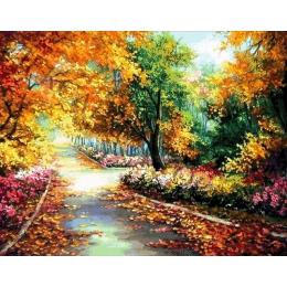 Авторский набор для вышивки бисером - Токарева А. - В цветущем парке 54-4234-НВ