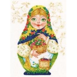 Набор для вышивки крестом - Алиса - 6-05 Матрёшка. Летняя краса