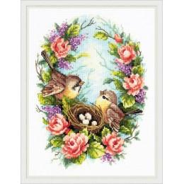 Семейное гнездышко - Чудесная игла - набор для вышивки крестом
