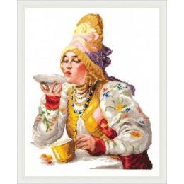 Боярышня за чаем - Чудесная игла - набор для вышивки крестом