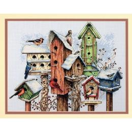Winter Housing / Зимние домишки - Dimensions - набор для вышивки крестом