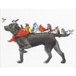 Bird dog // Птичий пёс - Dimensions - набор для вышивки крестом
