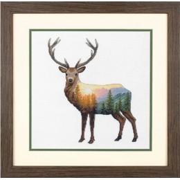 Deer Scene / Олень - Dimensions - набор вышивки крестом