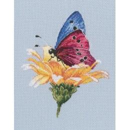 Набор для вышивки крестом RTO M751 Бабочка на цветке
