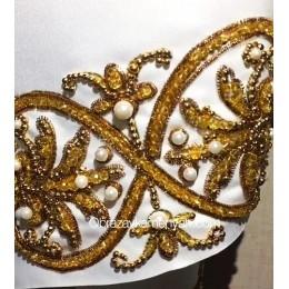 Рушник золотой (малый) - Образа в каменьях - набор для вышивки бисером