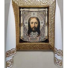 Рушник золотой (большой) - Образа в каменьях - набор для вышивки бисером