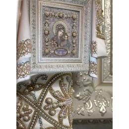 Рушник венчальный (малый) - Образа в каменьях - набор для вышивки бисером