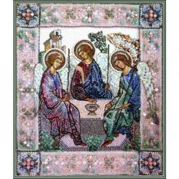 Святая Троица - Образа в каменьях - вышивка бисером икон