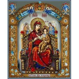 Вышивка бисером икон - Образа в каменьях - 7763 Божия Матерь Всецарица