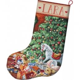 Набор для вышивания крестом - LETISTITCH - L8010 Уютный рождественский чулок