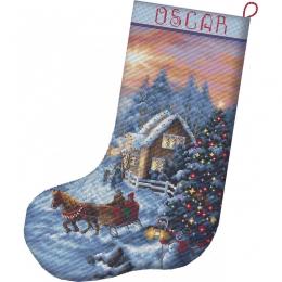 Набор для вышивки крестом LETISTITCH L 8011 Рождественский чулок