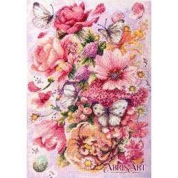 Набор для вышивки крестом - Абрис Арт - Розовая Аврора