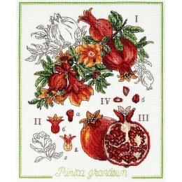 Ботанический батл - Гранат - Алисена - набор вышивки крестом