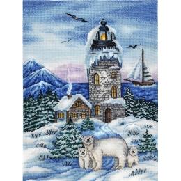 Набор вышивки крестом - Алисена - Маяк. Зима